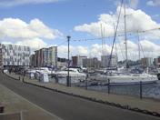 Ipswich quayside in summer