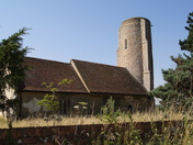 Ramsholt church with its round tower