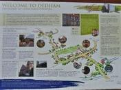 The Dedham tourist map