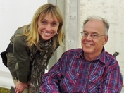 Michela Strachan and Brian Anderson at Essex Wildlife Trust AGM