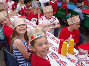 Waldringfield Primary School street party for Queen's Diamond Jubilee