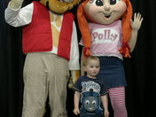 Jack Blackwell with Roary & Polly at Haven, Caister