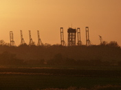 Sunset, Felixstowe Dock
