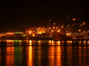 port of felixstowe at night