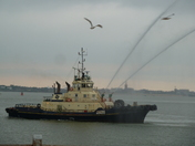 Water cannons at the ready
