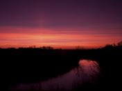 Sunset over Buss Creek