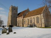 Barham Church in Winter