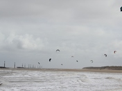 Kite Surfing at Eccles Beach 20th April