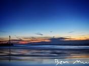 Twilight on Sheringham beach