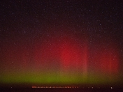 Northern lights (Aurora Boeralis) over Sheringham shoal