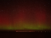 Northern lights (Aurora Boeralis) over Sheringham shoal