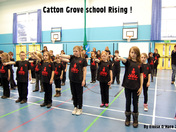 Catton Grove Primary School practicing Norwich Rising dance