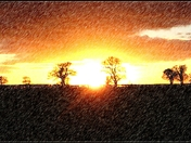 Sketchy sunset