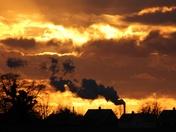 Steamy sunset