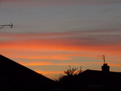 EVENING SUNSET as seen from Broom Avenue