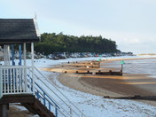 snow on wells beach
