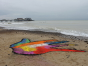 Coast Arts Festival, Cromer, Impromptu Land Art Oct 28th, by Jenny Leonard and K