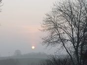Smog over Brayston at Sunrise