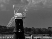 Wind Pump viewed from Burgh Casle, in mono