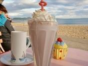 Milkshake on the seafront