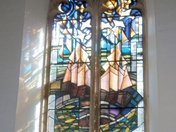 Light Through Stained-Glass Window