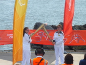 Olympic Torch Kiss