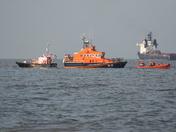 lifeboats off shore gorleston on sea
