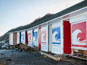 Comer Beach Huts Damage