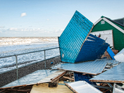 Comer Beach Huts Damage
