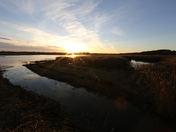 A beautiful sunset at Minsmere