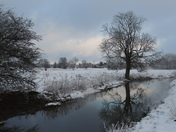 Beautiful winter scene on the river Waveney.