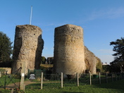 The ruins of Bigod's castle in Bungay Suffolk .