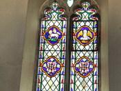 windows  & doors in all saints church, rackheath, norfolk.