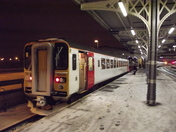 East Suffolk Line train in the snow