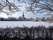 Norwich Cathedral after todays snows
