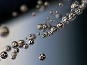 Web droplets on whirlygig washing line