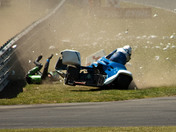 Sidecar Crash at Snetterton bsb event