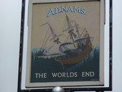 The Worlds End Pub Sign