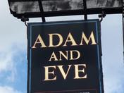 Adam and Eve Pub Sign