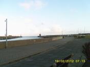 gorleston harbour and beach area