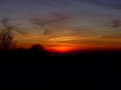 Sun rise on a Frosty, crisp morning at Gorleston Golf Club.