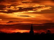 Earsham church sunset