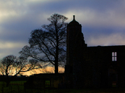 Early morning at Baconsthorpe Castle.