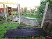 Storm damage in Cobholm, Great Yarmouth