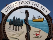 Village sign at Wells next the Sea