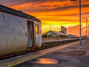Lowestoft Train Station Sunset