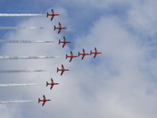 Red Arrows at the Cromer Carnival