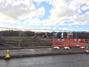 Work beginning on the bridge over North Devon Link Road