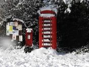 Post Box At Burnt Oak December 2011