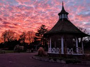 Chapelfield Gardens sunset